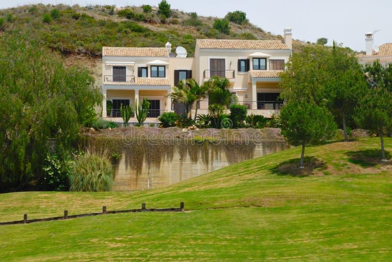 Traditional house. La quinta golf, a resort in Marbella, near Banus port in Andalusian, spain stock image