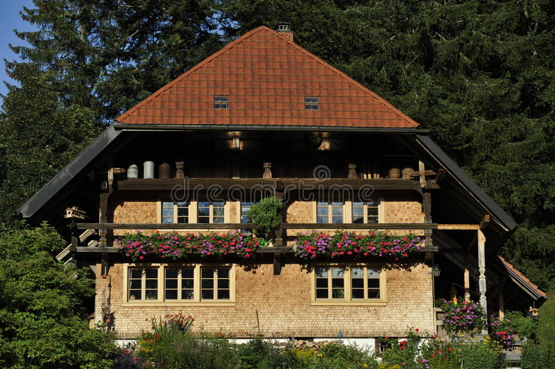 Traditional House in the Black Forest, Germany. Typical traditional house in the Black Forest, Sout-West Germany. Europe royalty free stock photography