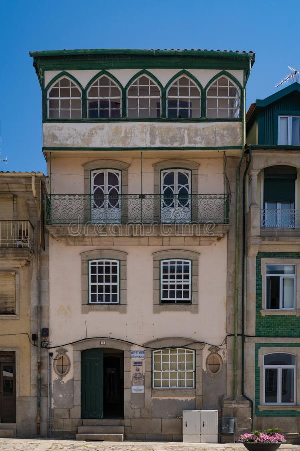Traditional House - Chaves. Chaves is a Portuguese city with origins in the Roman civitas Aquæ Flavi stock photo
