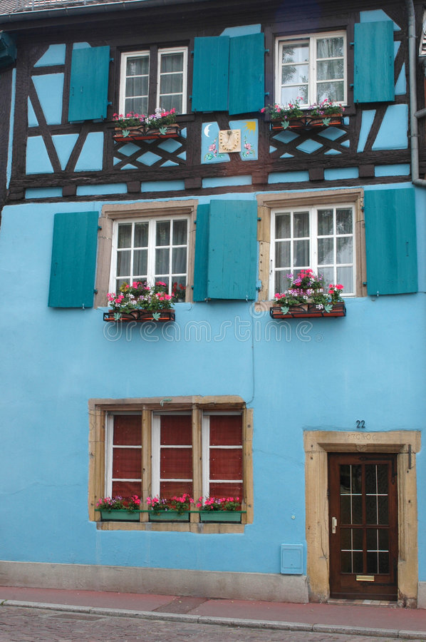 Traditional house facade - Strasbourg. View of very nice architecture of Strasbourg, France royalty free stock images