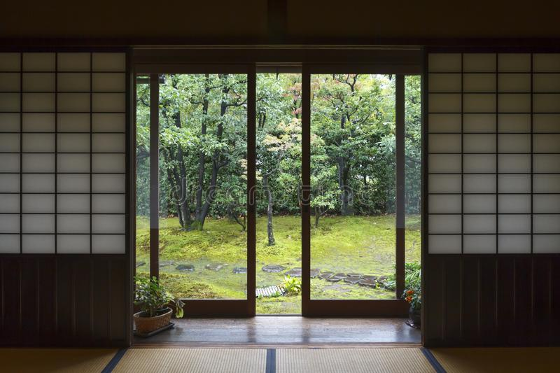 Traditional house interior in Japan royalty free stock photos