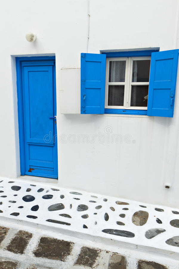 Traditional House At Mykonos Island Stock Photography