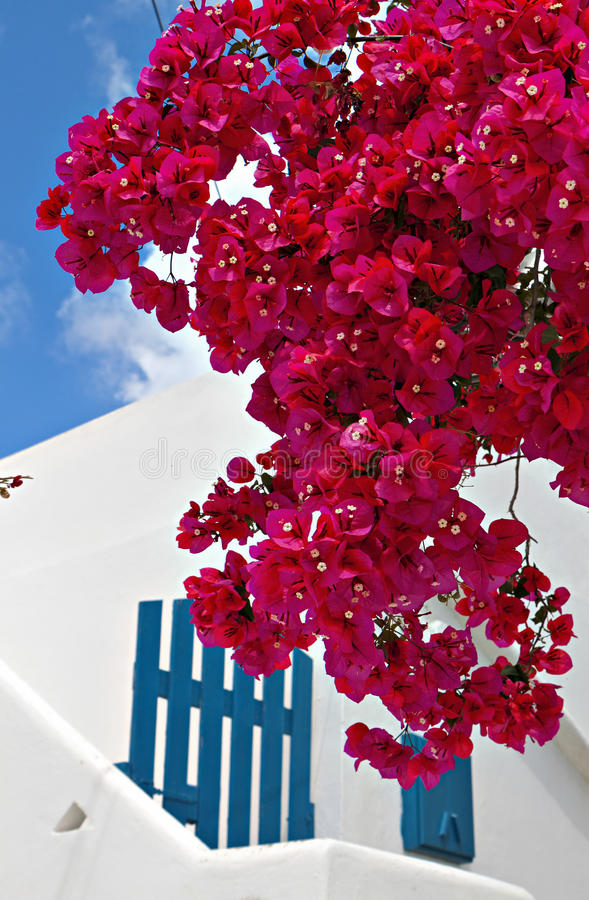 Traditional house at Mykonos island royalty free stock images