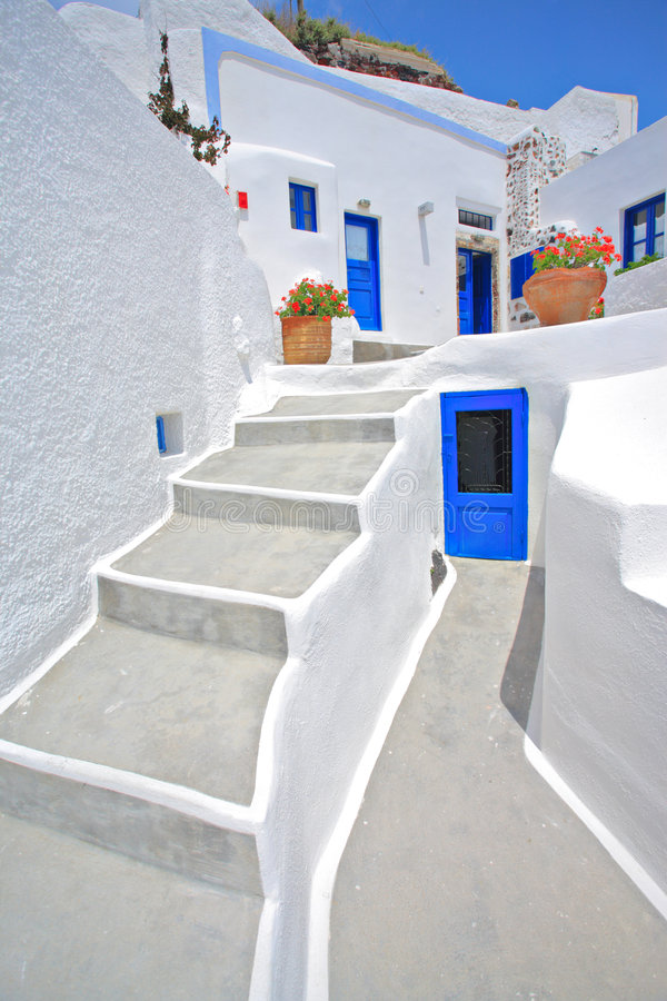 Traditional house in Oia on Santorini