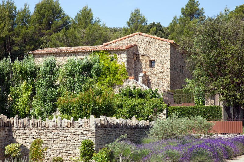 The traditional house in Provence stock photos
