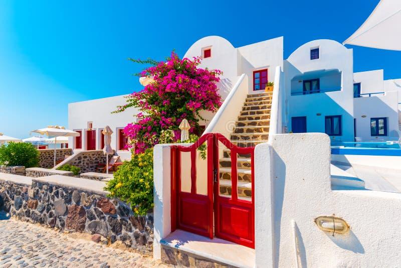 Traditional house in Santorini stock photos
