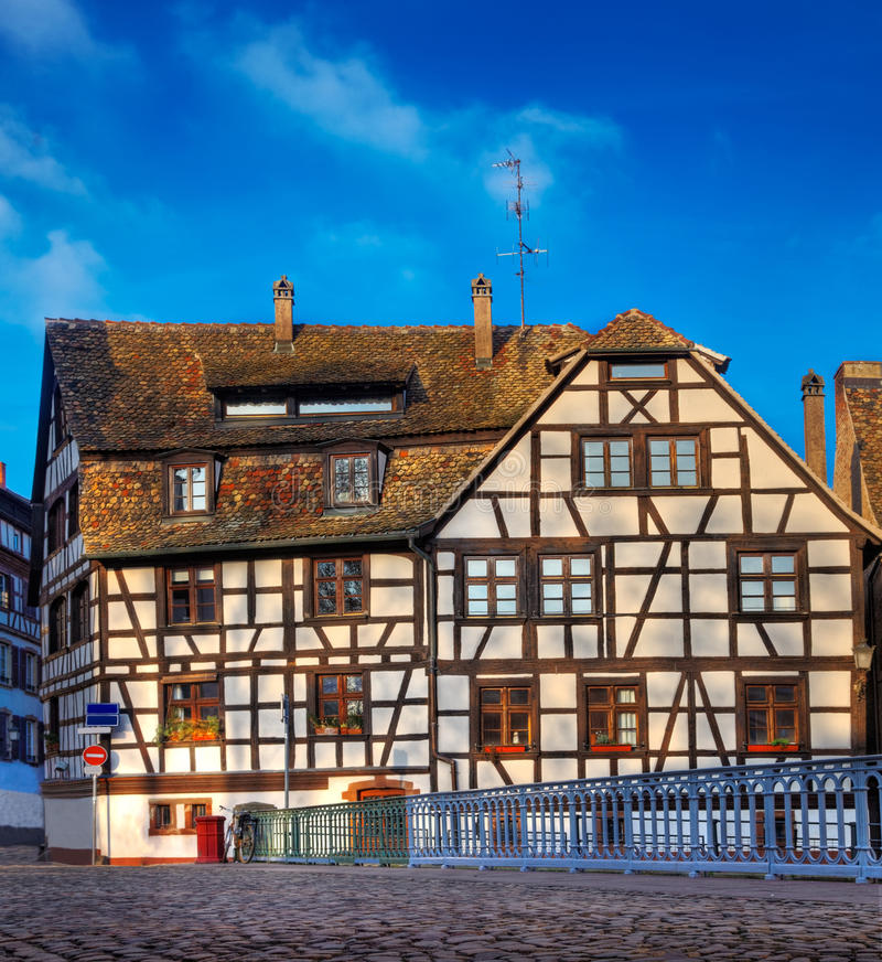 Traditional House in Strasbourg royalty free stock photo