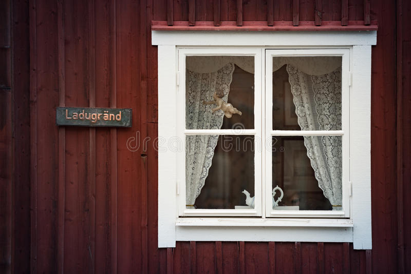 Traditional house in Sweden, Europe stock images