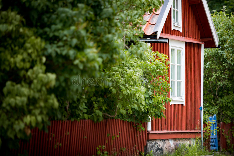 Traditional house in Sweden, Europe stock photography