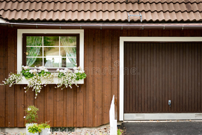 Traditional house in Sweden, Europe royalty free stock photography
