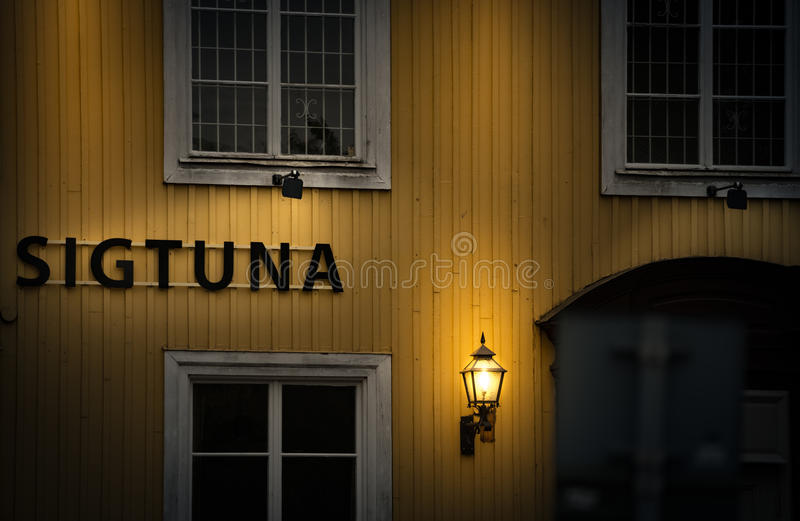 Traditional house in Sweden, Europe royalty free stock images