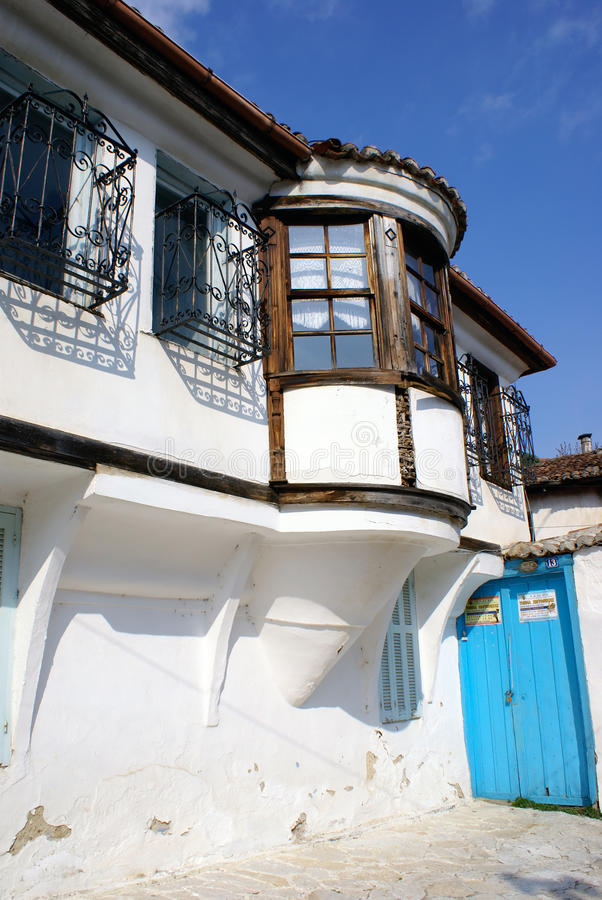 Traditional house in Xanthi city royalty free stock photos
