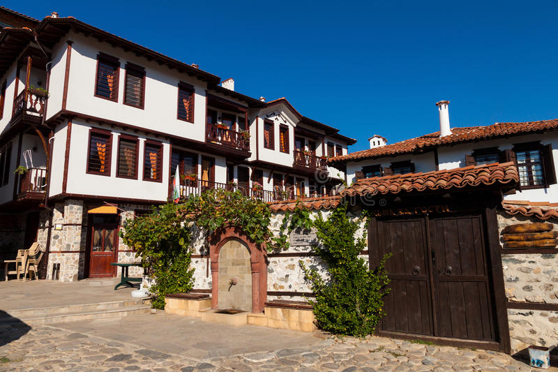 Traditional house from Zlatograd, Bulgaria royalty free stock photography