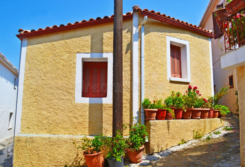 Download Traditional Houses At Kymi Village Euboea Greece Editorial Photography - Image: 83722597