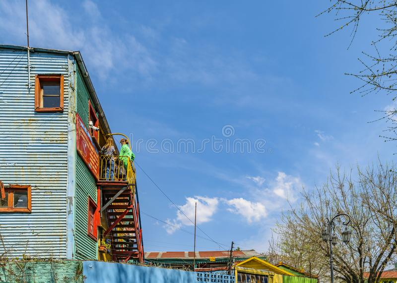 Traditional Houses, La Boca, Argentina royalty free stock photo