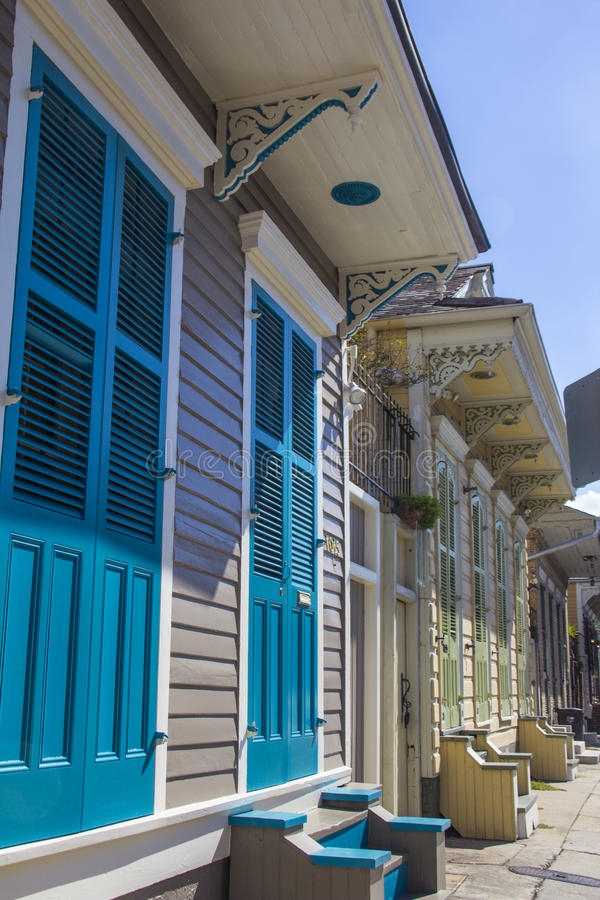Traditional houses in New Orleans stock image