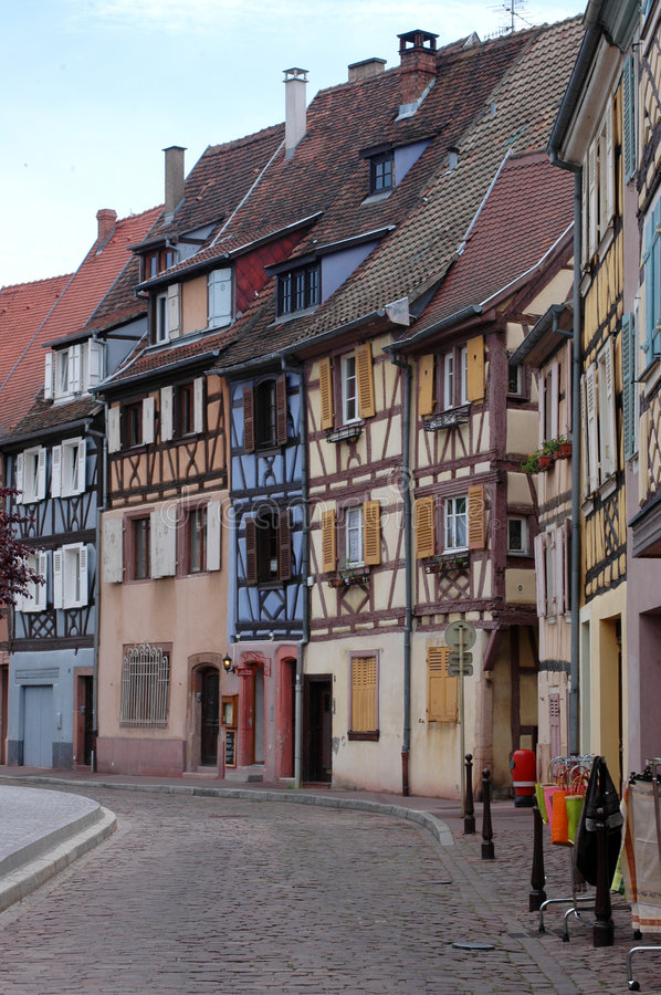 Traditional houses in Strasbourg. View of very nice architecture of Strasbourg, France royalty free stock images