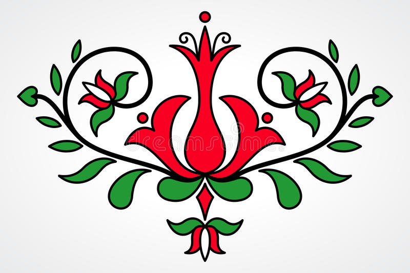 Traditional Hungarian floral motif royalty free illustration