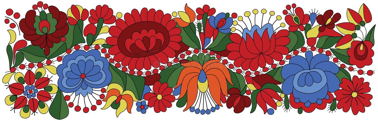 Hungarian Embroidery Motif vector illustration