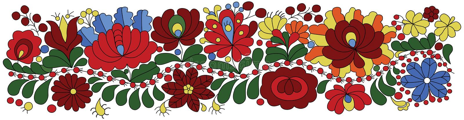 Hungarian Embroidery Pattern stock illustration