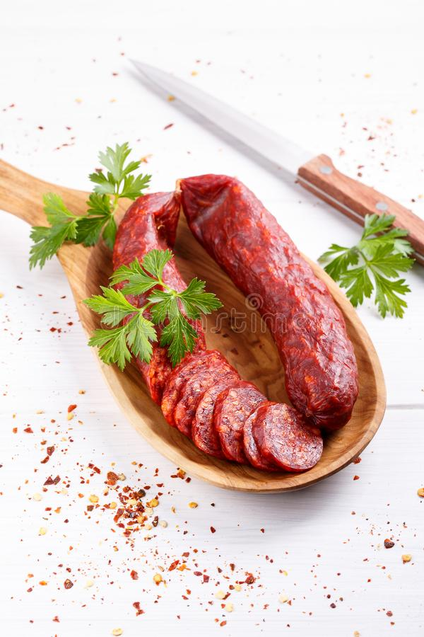 Free Traditional Hungarian Paprika Sausage Stock Photography - 160658532