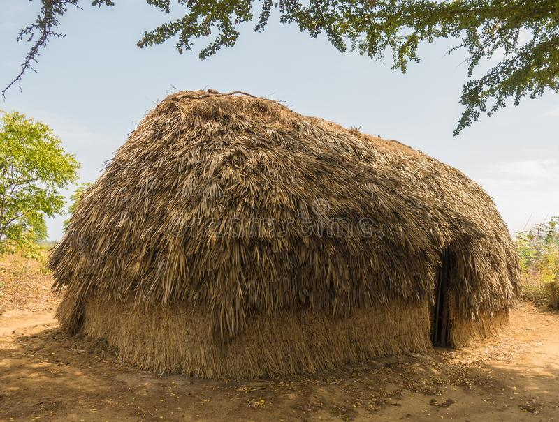 Traditional hut of the Giriama tribe in Kenya stock photo