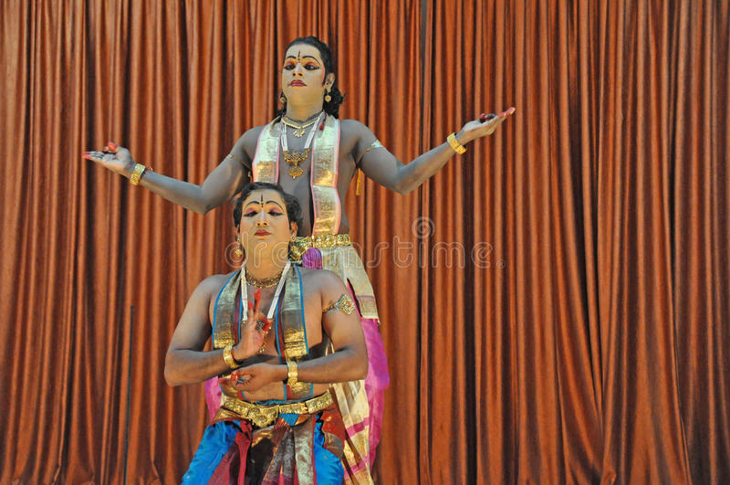 Traditional Indian folk dance stock photos