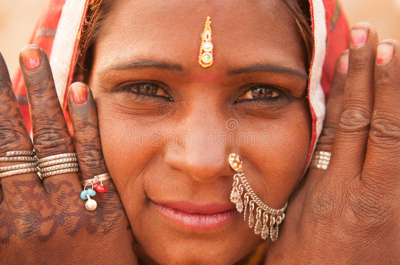 Traditional Indian girl portrait stock image