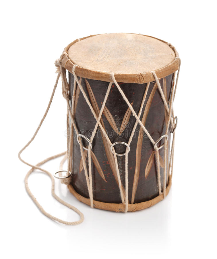 Traditional Indian handcrafted drum royalty free stock photos