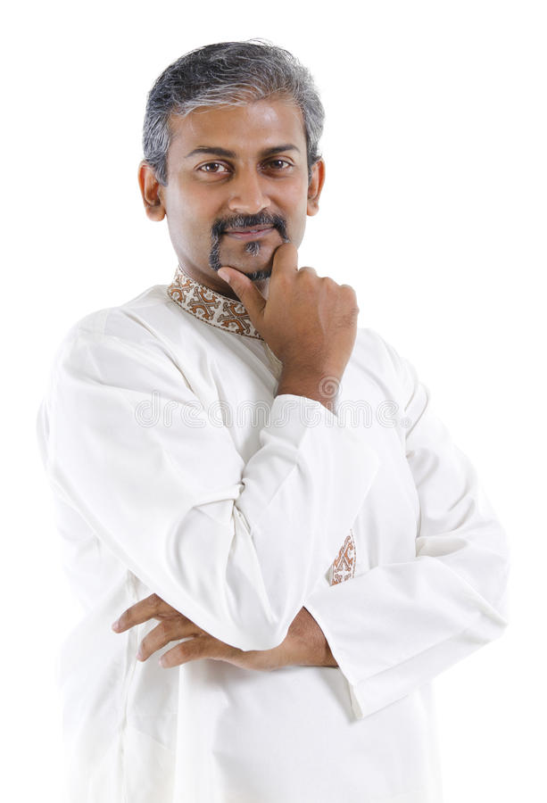 Traditional Indian man stock image