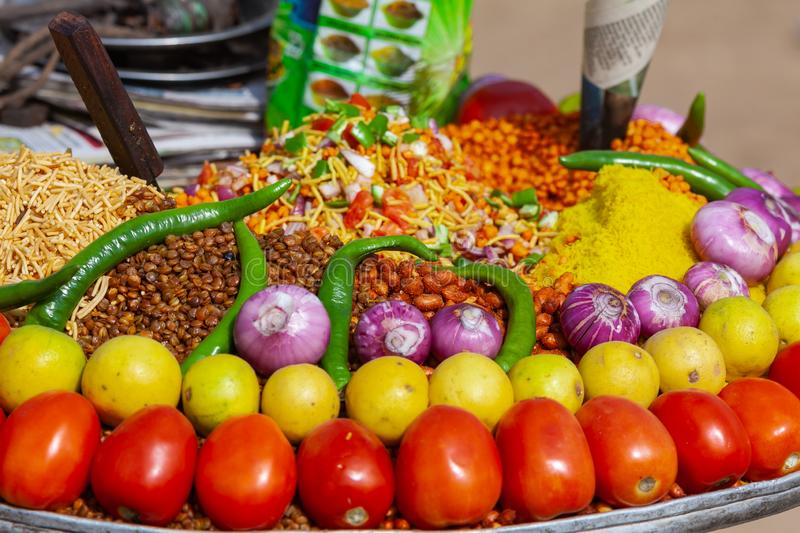 Traditional Indian Market Food stock photo