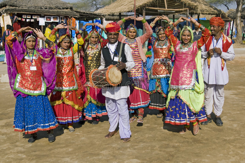 Traditional Indian Music and Dance Group royalty free stock image