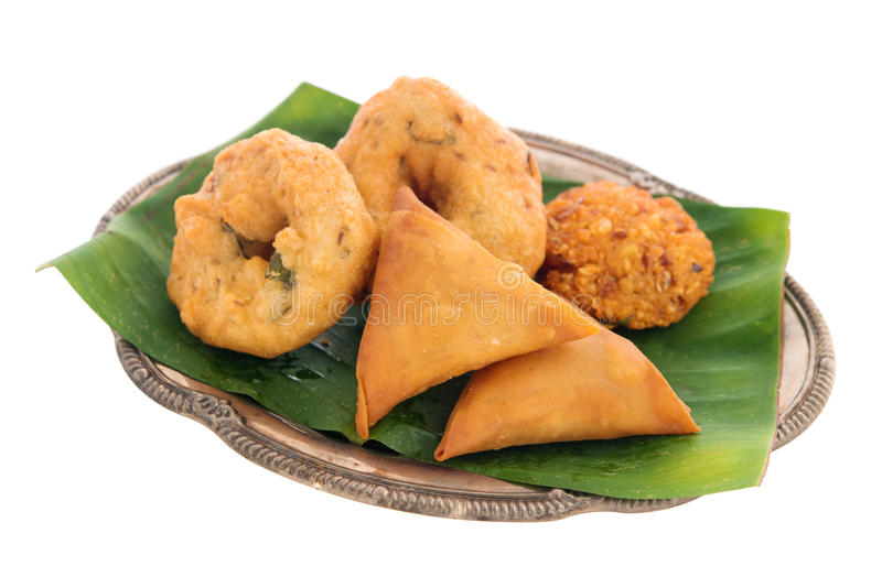 Traditional Indian snack starter royalty free stock image