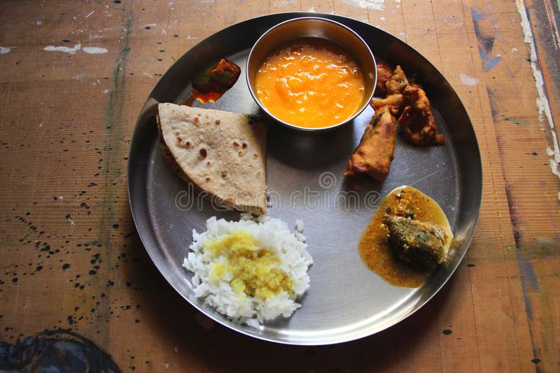 Traditional Indian Veg Tasty Food stock images