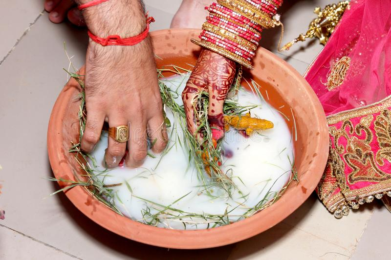 Indian Wedding Ritual royalty free stock images