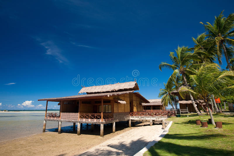 Download Traditional Indonesian Chalet In An Island Resort Stock Photo - Image: 15010556