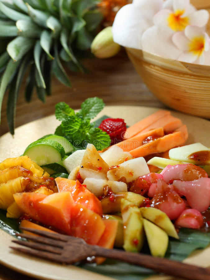 Download Traditional Indonesian Fruit Salad Dish Stock Image - Image of pineapple, sauce: 25662805