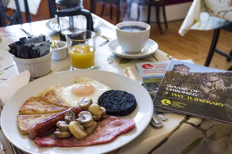 Traditional Irish breakfast stock photo