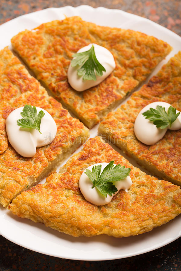 Traditional Irish potato pancakes stock photo