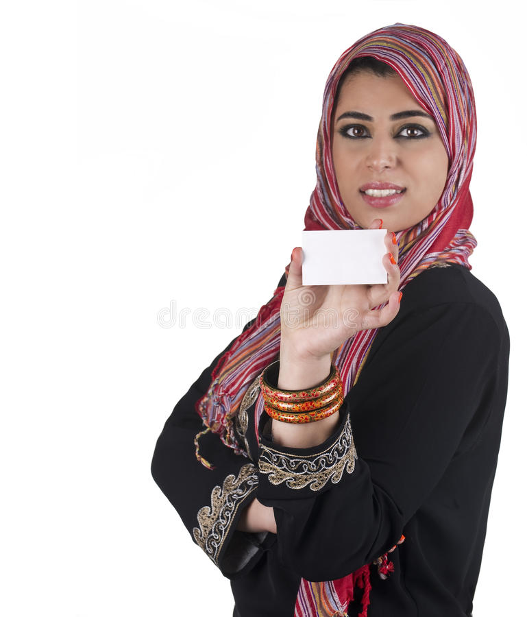 Traditional islamic executive in a business presen royalty free stock image