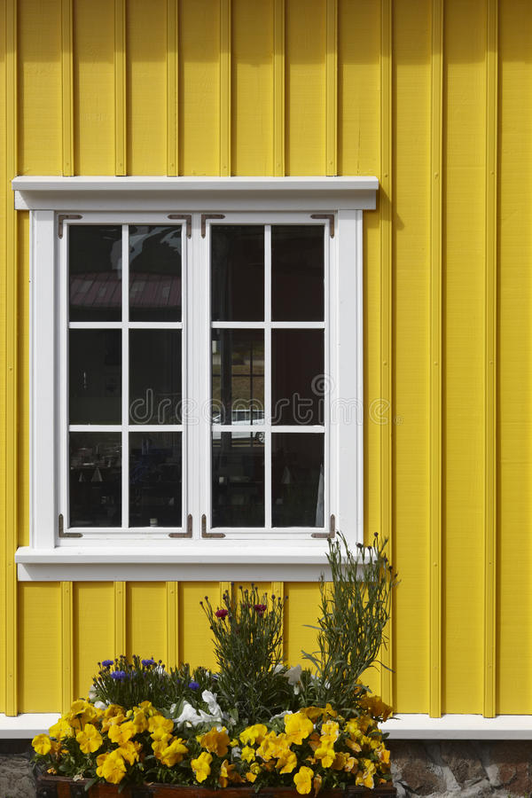 Traditional islandic facade. Siglufjordur. Iceland. royalty free stock images