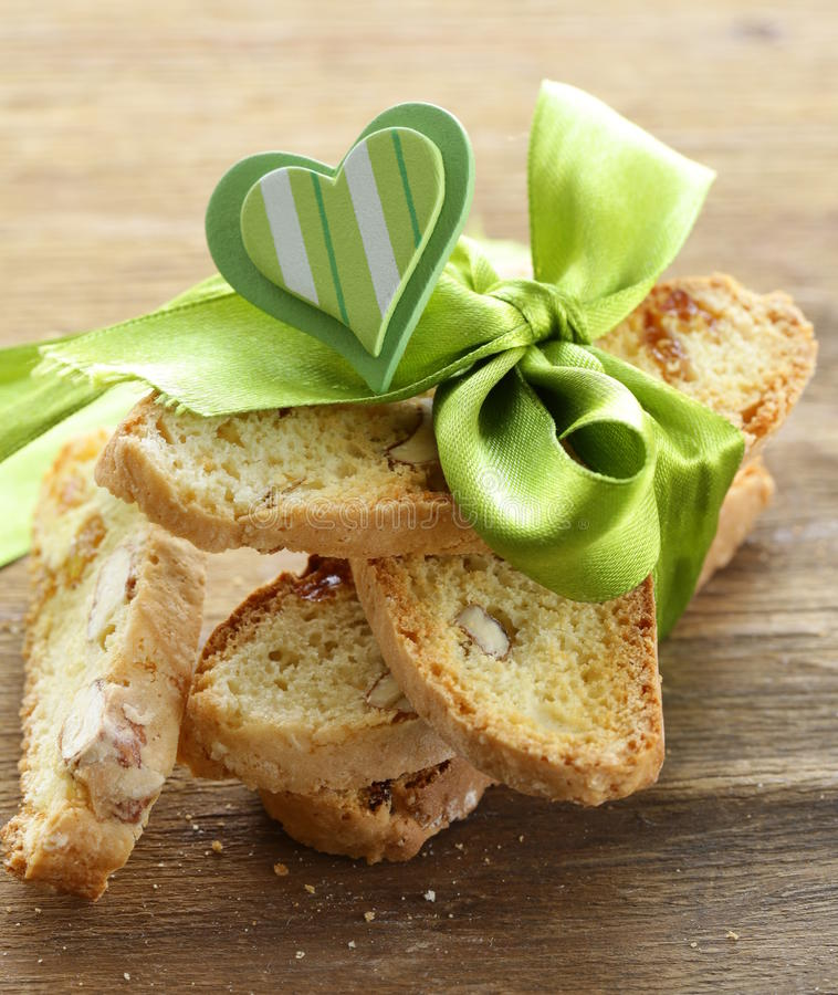 Traditional Italian biscotti cookies stock photography