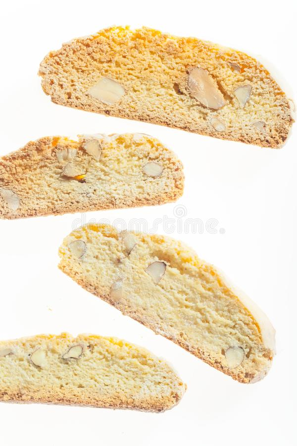 Traditional italian biscuits with almond cantuccini royalty free stock photography