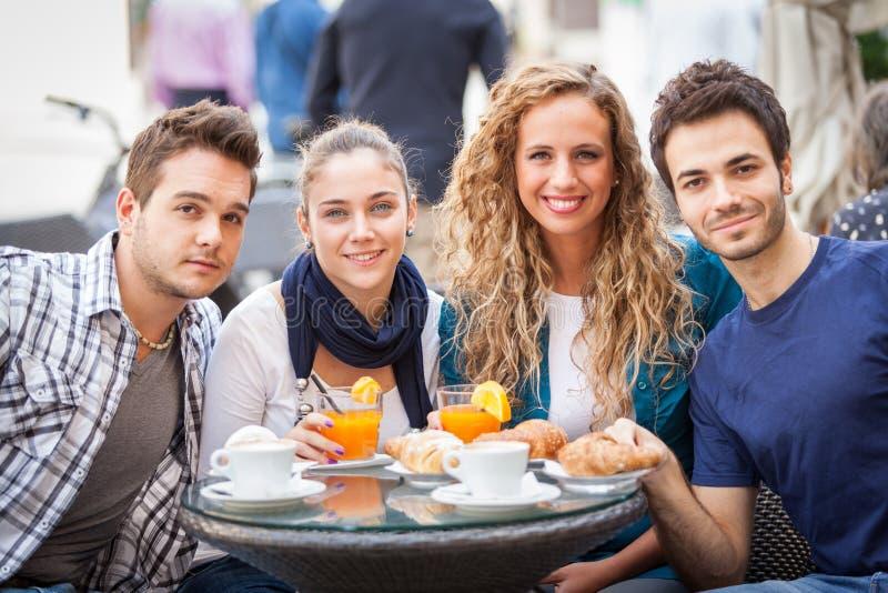 Traditional Italian Breakfast royalty free stock photos