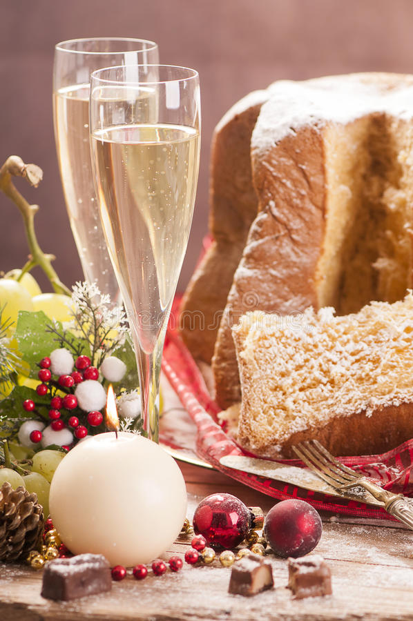 Traditional Italian Cakes Pandoro Stock Image Image of pine