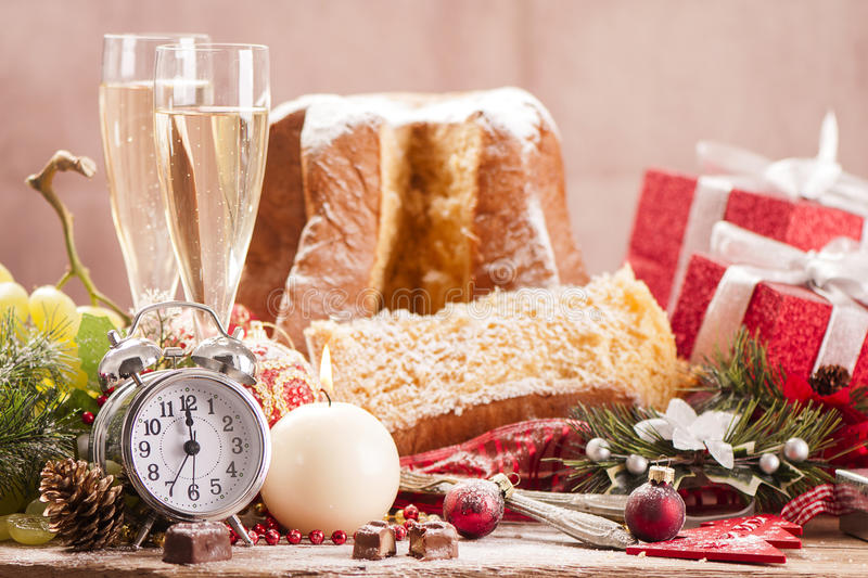 Traditional Italian Cakes Pandoro Stock Photo Image of season