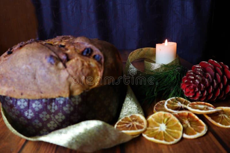 Traditional italian christmas cupcake panettone royalty free stock image