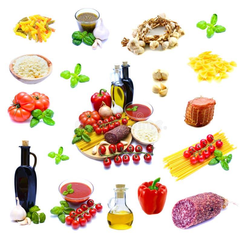 Traditional italian food stock photo