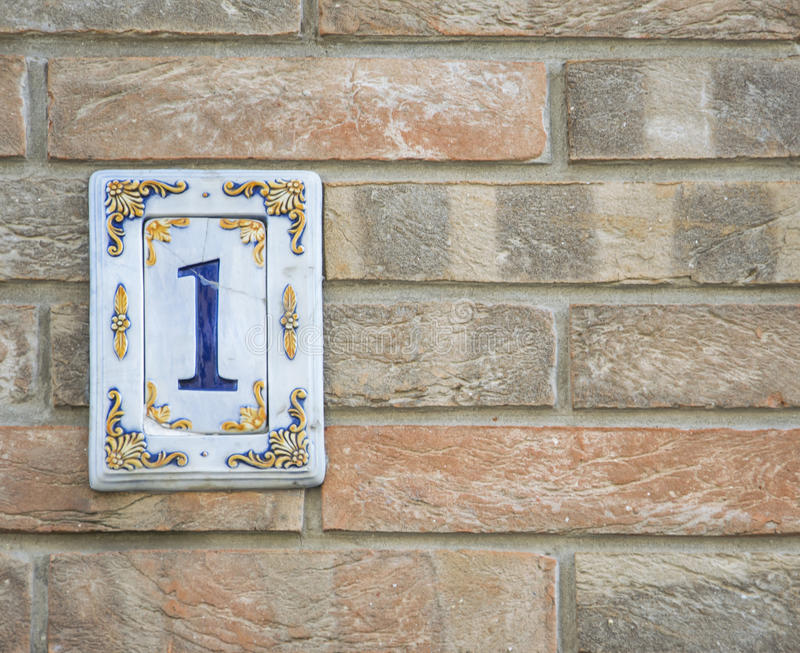 Traditional Italian Home Sign Board Painted On Ceramic Tile Placed ...