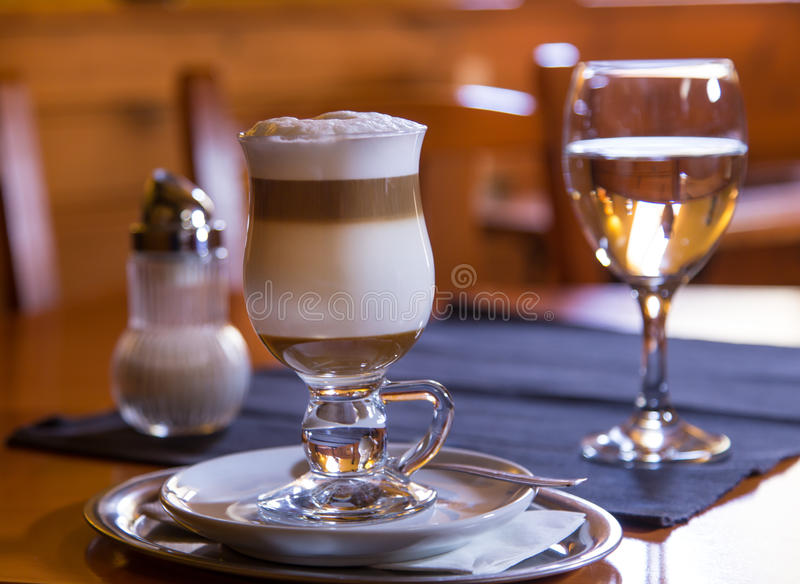 Traditional Italian macchiato stock image